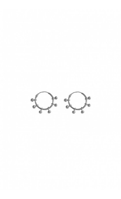 Fashionology River Hoop Earrings 15mm Sterling Silver