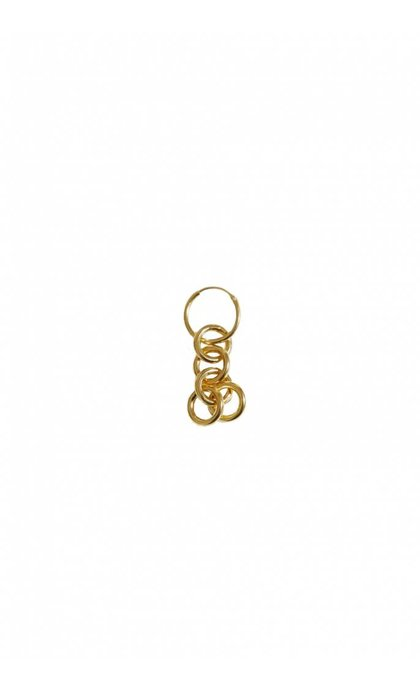 Fashionology Cable Chain Hoop Earring Goldplated