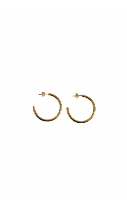 Fashionology Boogie Woogie Hoop Earrings 30mm Goldplated