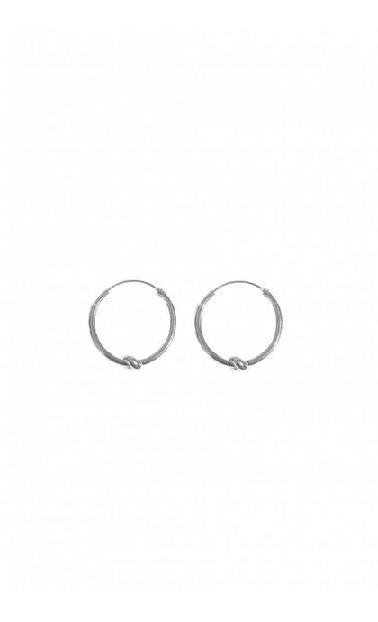Fashionology Knot Hoop Earrings 25mm Sterling Silver