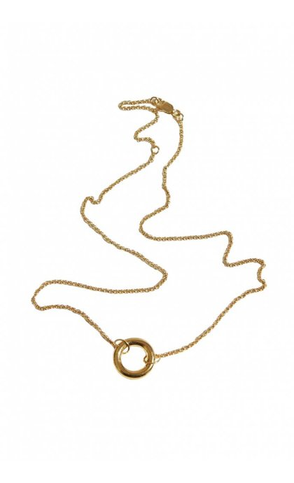 Fashionology Donut Necklace Goldplated