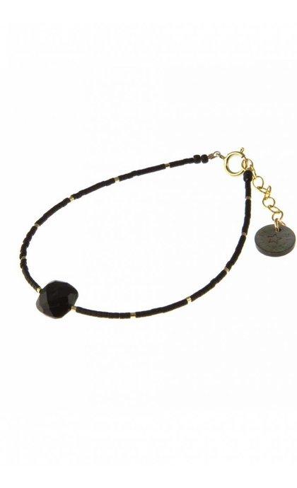 Blinckstar GF Spinel Cushion Cut GF Beads Faceted Matte Black Japanese Mini Beads