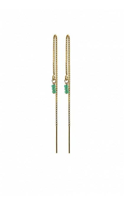 Blinckstar GF Threader Green Onyx 3 Faceted Rondells