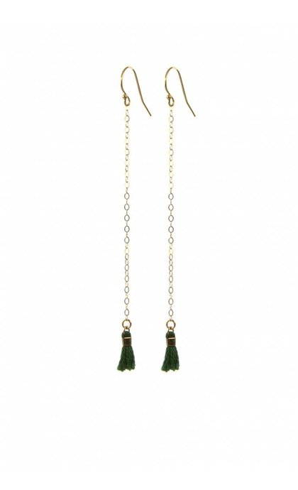 Blinckstar GF Hook N Chain Green CZ Green Tassle