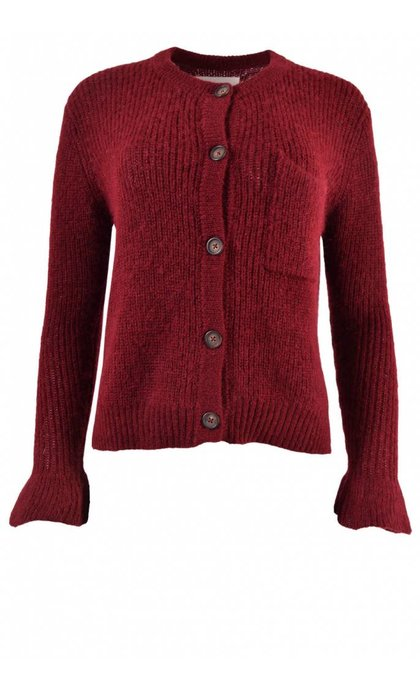 Leon and Harper Muchachita Cardigan Red