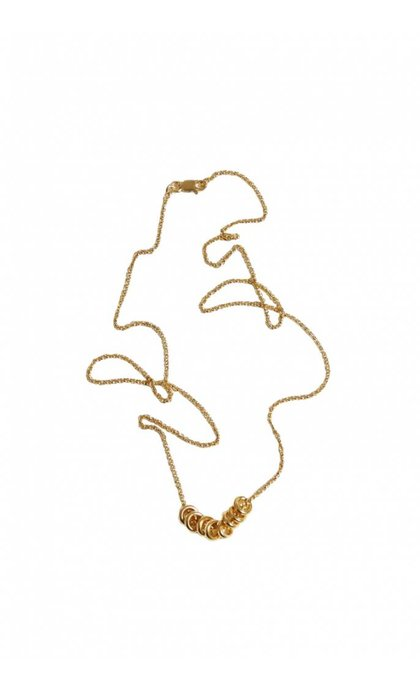 Fashionology Multi Orbit Necklace Goldplated