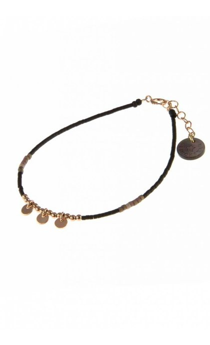 Blinckstar RGF 3 Coins Black Taupe Matte Japanese Beads