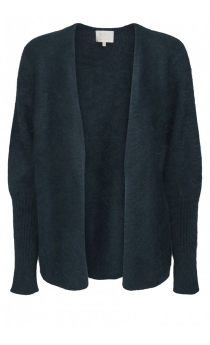 Minus Eileen Short Cardigan Fir Green