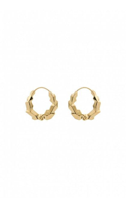 Anna + Nina Cryptonite Earring Silver Goldplated