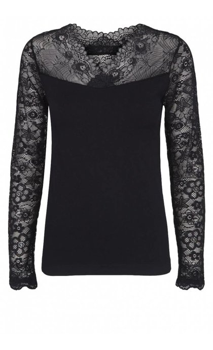 Minus Vanessa V-neck Long Sleeve Black