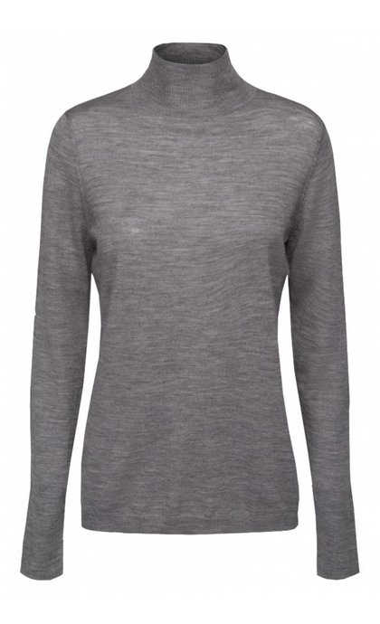 Minus Rose Knit Roll Neck Light Grey Melange
