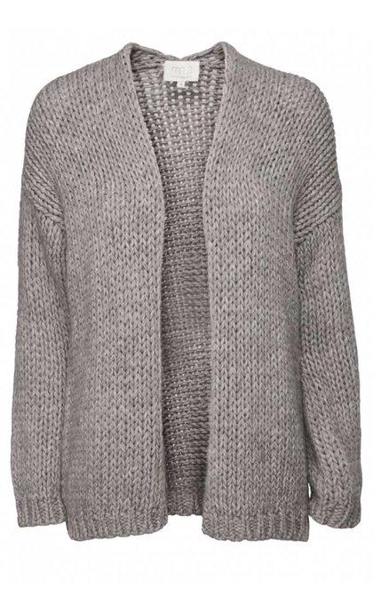 Minus Saga Knit Cardigan Grey Melange