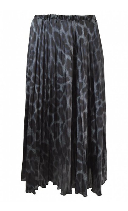 Neo Noir Fria Leo Skirt Blue Leopard
