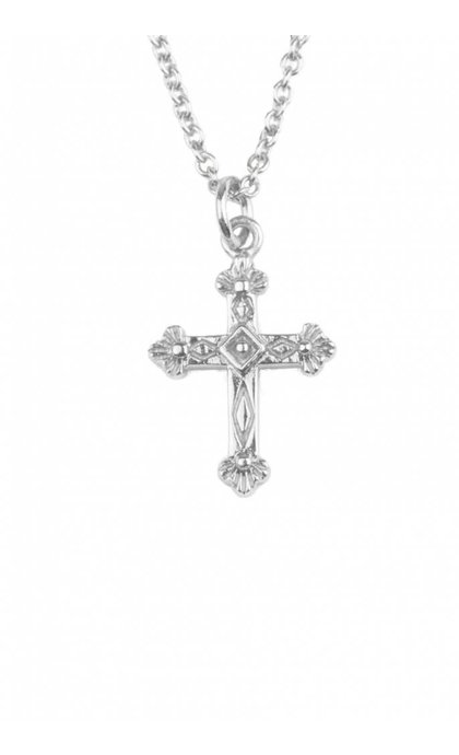 All the Luck in the World Souvenir Necklace Cross Silver