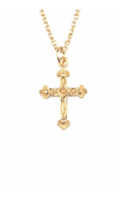 All the Luck in the World Souvenir Necklace Cross Goldplated