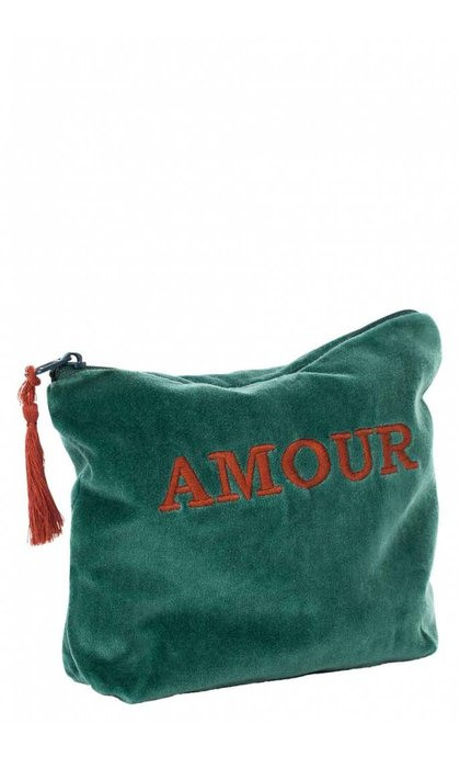 Anna + Nina Pouch AMOUR Green