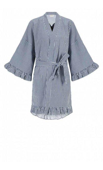 Anna + Nina Kimono Short Dune Desert & Oasis Off white Petrol Stripe