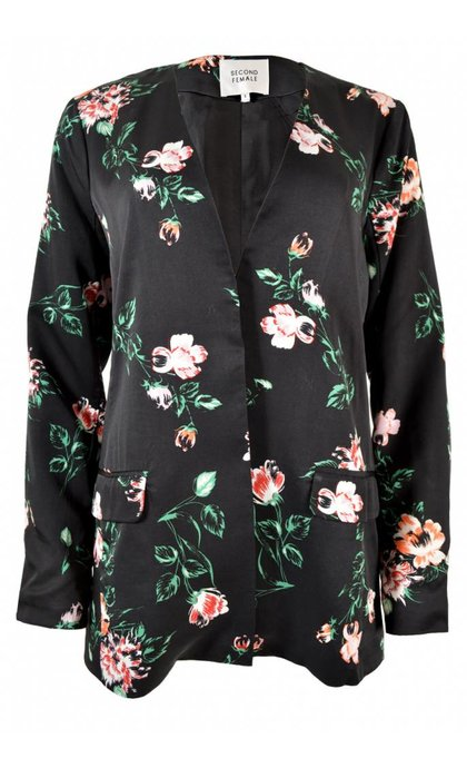 Second Female Florali Blazer Black
