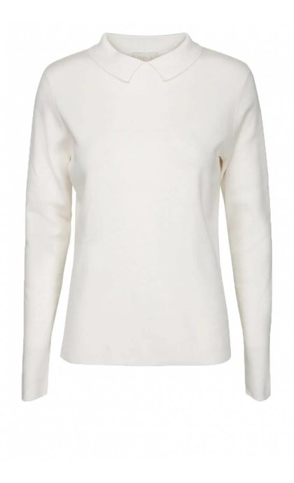Minus Jill Polo Knit 220 Broken White