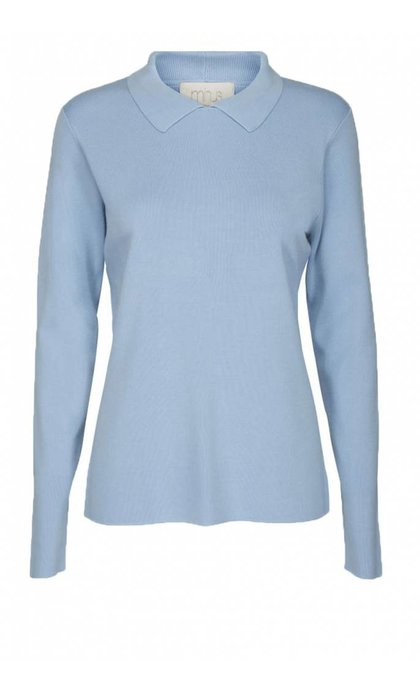 Minus Jill Polo Knit 580 Icy Blue