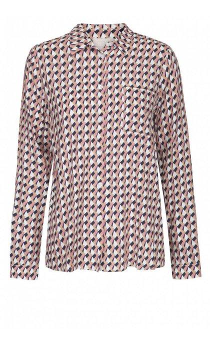 Minus Noelle Shirt 9148 Peak Print Almond