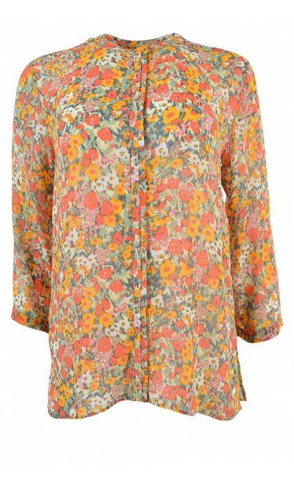 Second Female Bloom Blouse Blazing Orange
