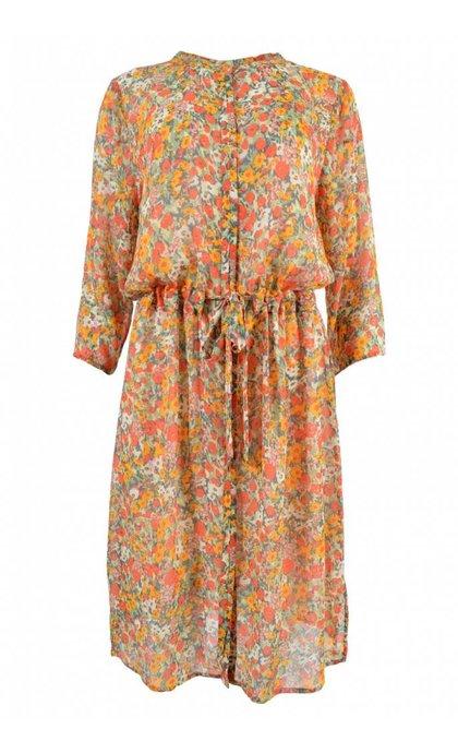 Second Female Bloom Long Shirt Blazing Orange