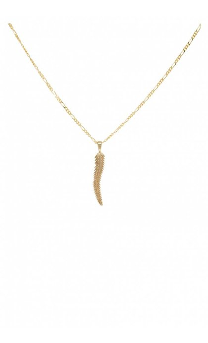 Anna + Nina Leaf Necklace Charm Goldplated
