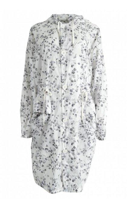Elvine Nyla Summer Coat Micro Ripstop White Mosaik AOP