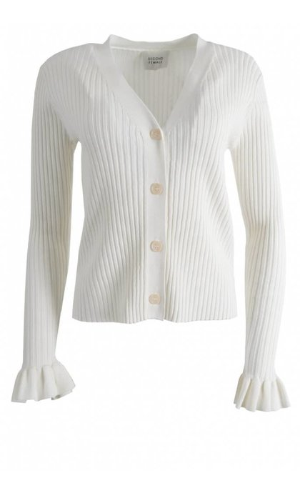 Second Female Mariella Knit Cardigan Off White