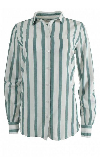 Mos Mosh Kayla Stripe Shirt Pool Green Stripe