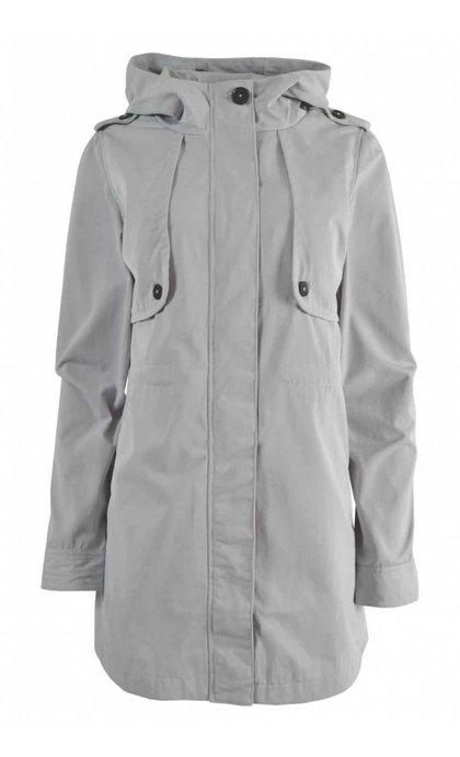 Elvine Brenda Summer Coat Twill Deluxe Quiet Grey