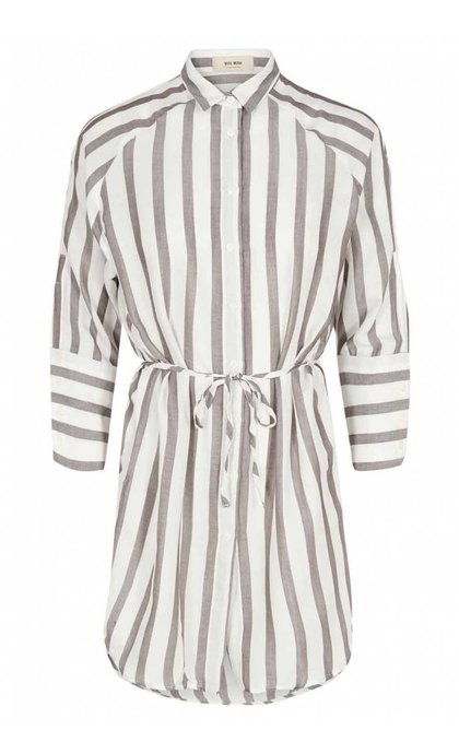 Mos Mosh Layla Stripe Shirt Brown Stripe