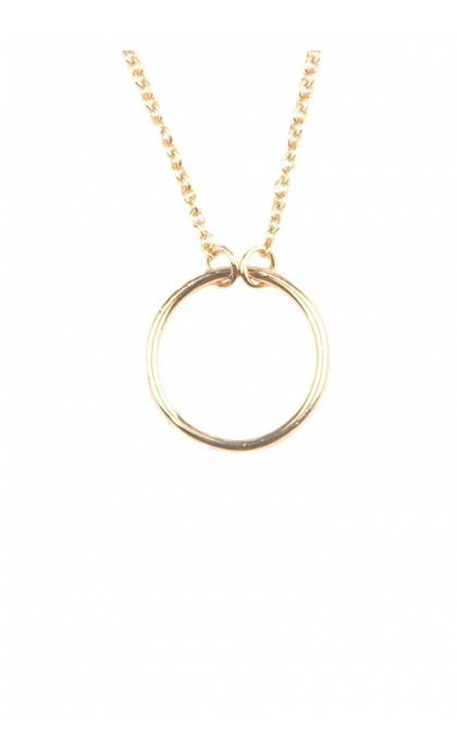 All the Luck in the World Souvenir Necklace Circle Goldplated