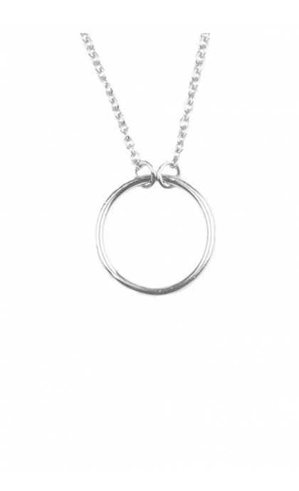 All the Luck in the World Souvenir Necklace Circle Silver