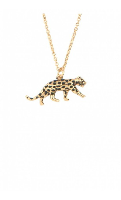 All the Luck in the World Souvenir Necklace Leopard Goldplated