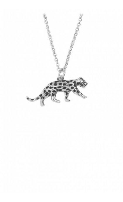 All the Luck in the World Souvenir Necklace Leopard Silver