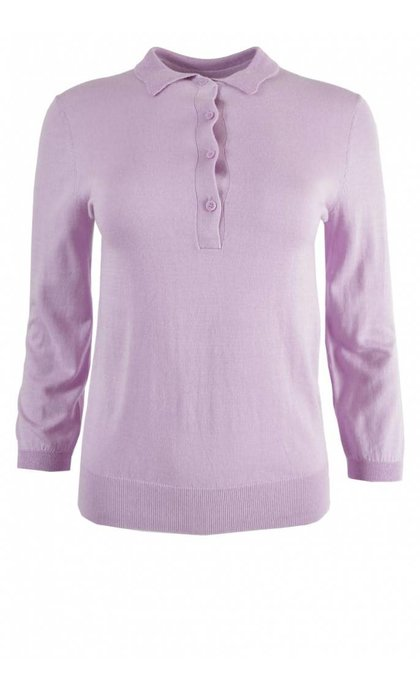 Second Female Ursula Knit Polo Fair Orchid