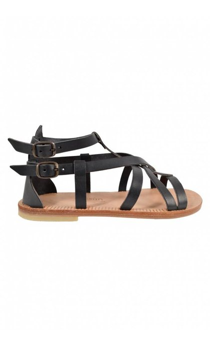 Sessun Hemera Black Sandals