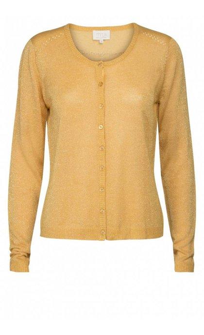 Minus New Laura Cardigan Golden Yellow Lurex