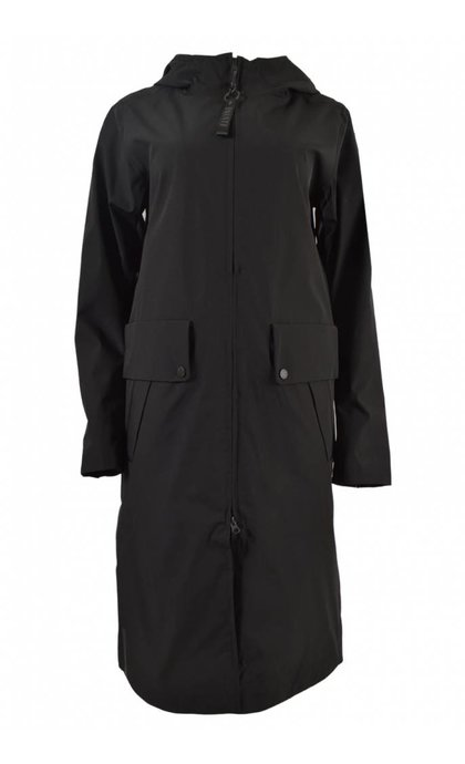 Elvine Lotten Summer Coat Function Stretch Black