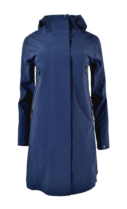 Krakatau QW212/5 Mishima Hooded Rain Coat Navy Blue