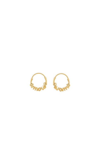 Anna + Nina Amour Small Hoop Earring Silver Goldplated