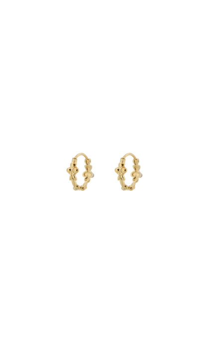 Anna + Nina Eden Ring Earring Silver Goldplated