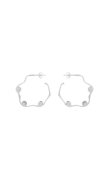 Anna + Nina Ivy Hoop Earring Silver