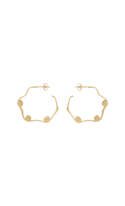 Anna + Nina Ivy Hoop Earring Silver Goldplated