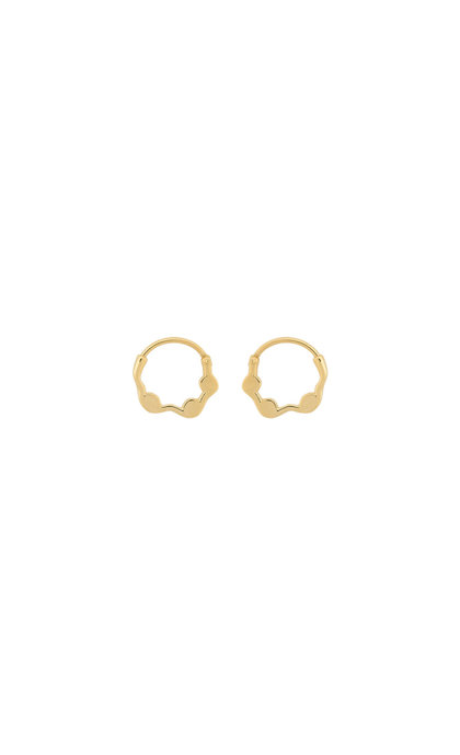 Anna + Nina Ivy Ring Earring Silver Goldplated
