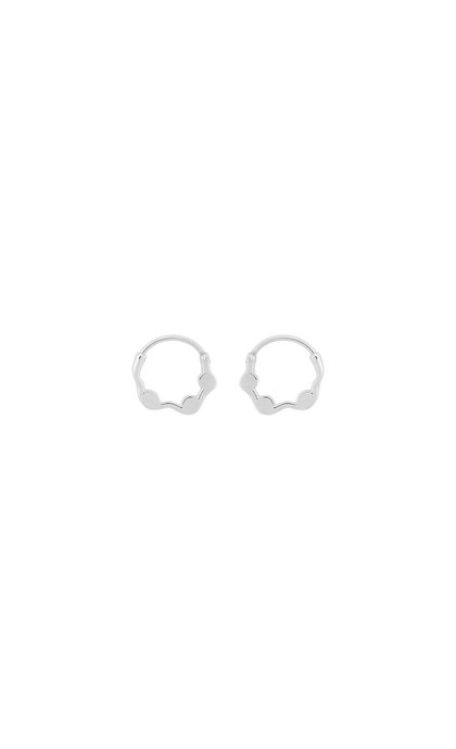 Anna + Nina Ivy Ring Earring Silver