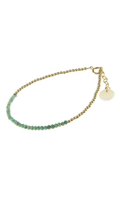 Blinckstar GF Mini Rondel Arizona Turquoise Color Gradient