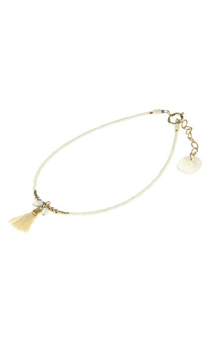 Blinckstar GF Cream Tassle GF Matte White White Mini Beads